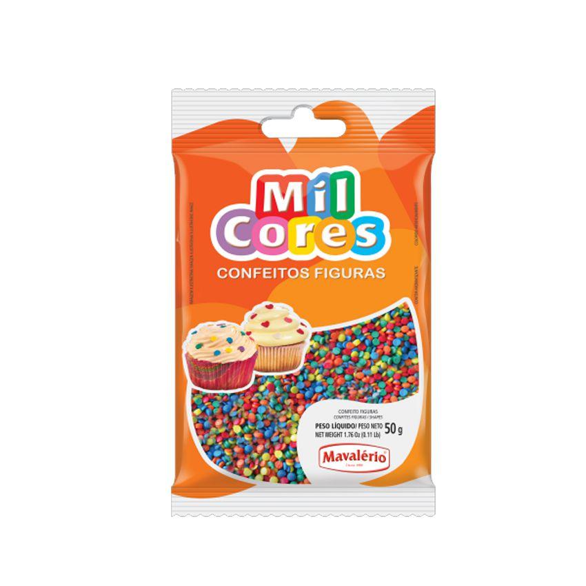 Confeito Figura 50g Mini Confete Mil Cores