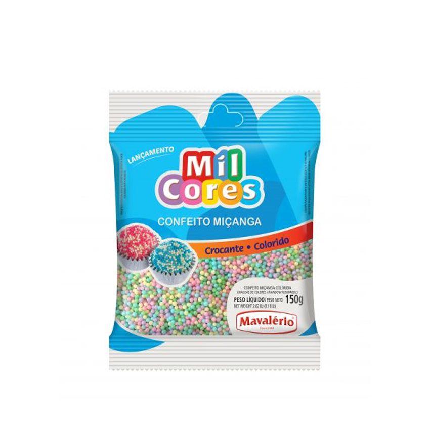 Confeito Miçanga N.0 150g  Colorida Baby Mil Cores