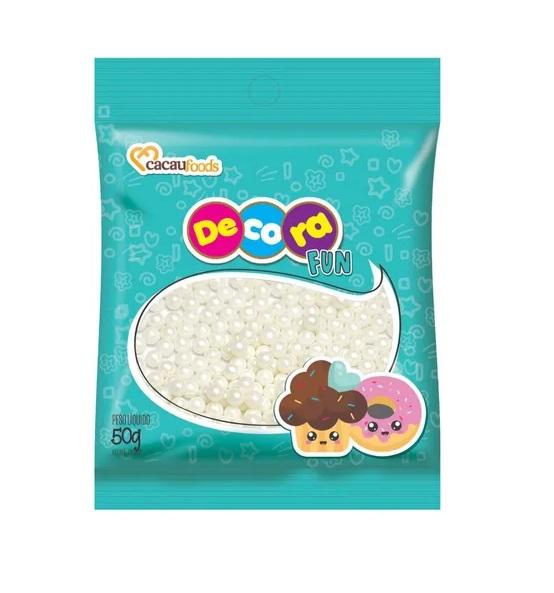 Confeito Pérola 50g Decora Fun