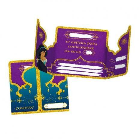 Convite G Aladdin C 08 unid Regina