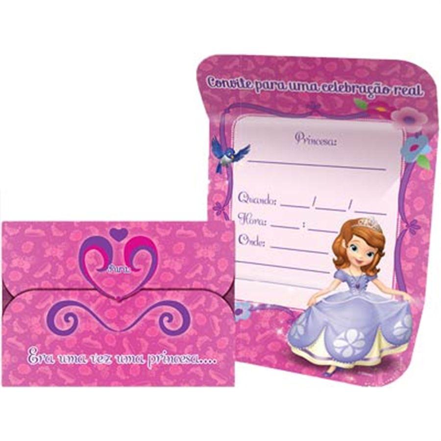 Convite Princesinha Sofia C 08 unid Regina