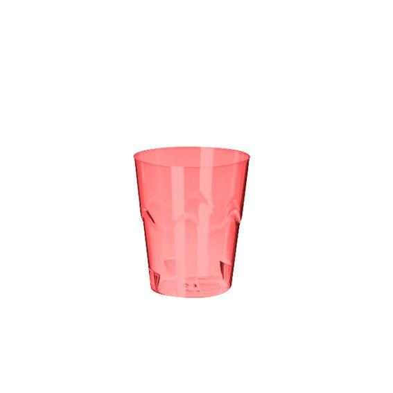Copinho Brigadeiro Vermelho Neon 25 ml 10 unid Strawplast