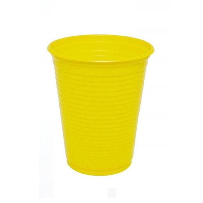 Copo 200ml 50 unid Amarelo Bello Copo Festas