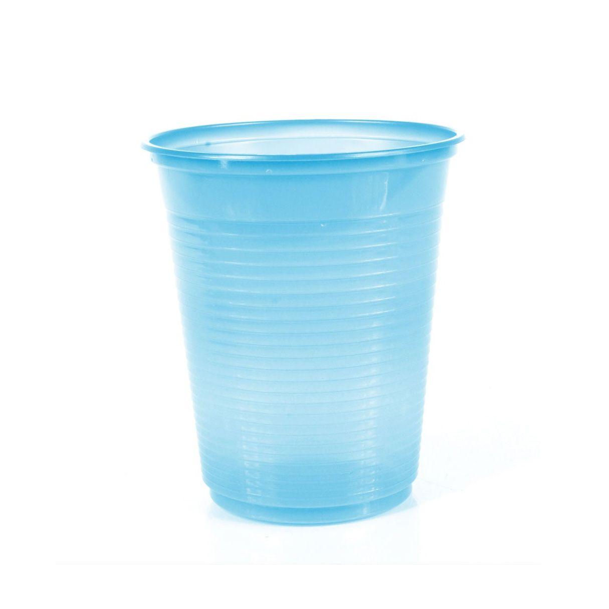 Copo 200ml 50 unid Azul Claro Bello Copo Festas