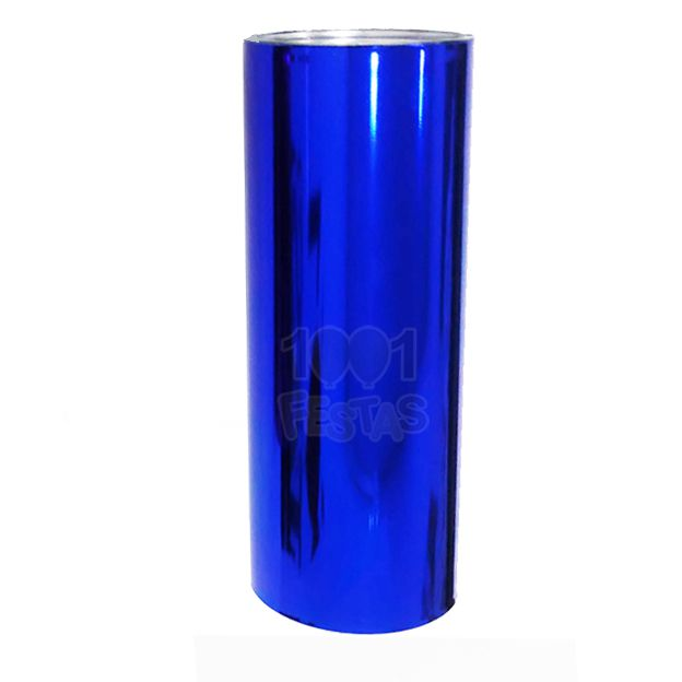 Copo 350ml Long Drink Azul Cromado