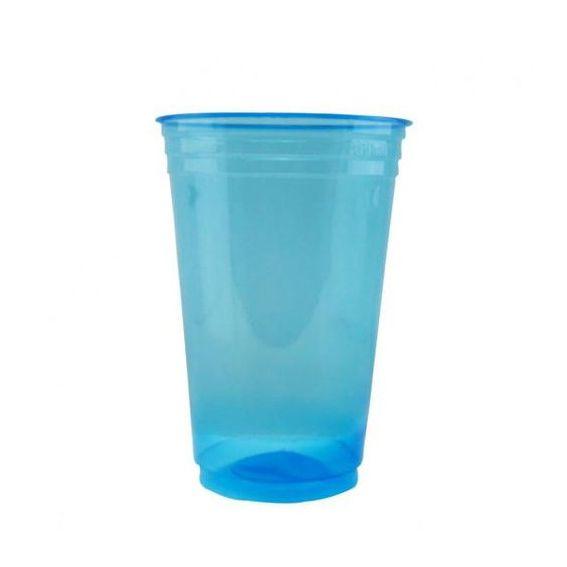 Copo Balada 300ml 25 unid Azul Copobras
