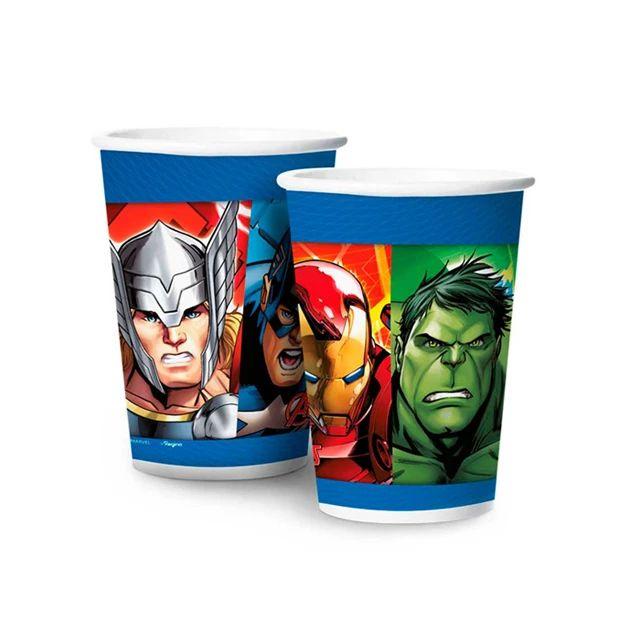 Copo de Papel Avengers 180ml C 08 unid Regina