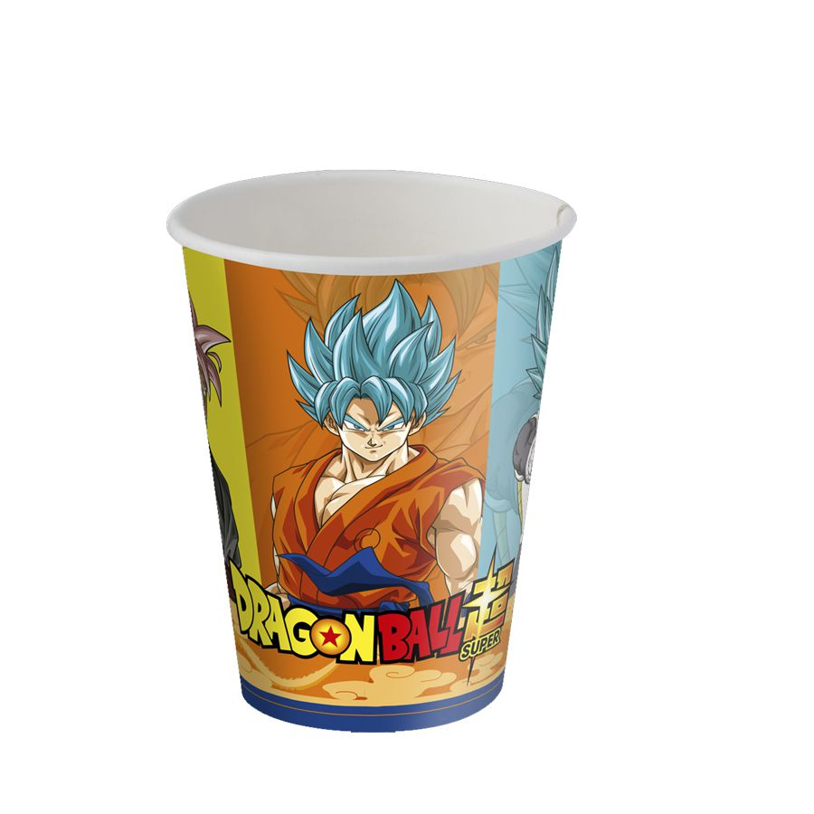 Copo de Papel Dragon Ball C 08 unid  Festcolor