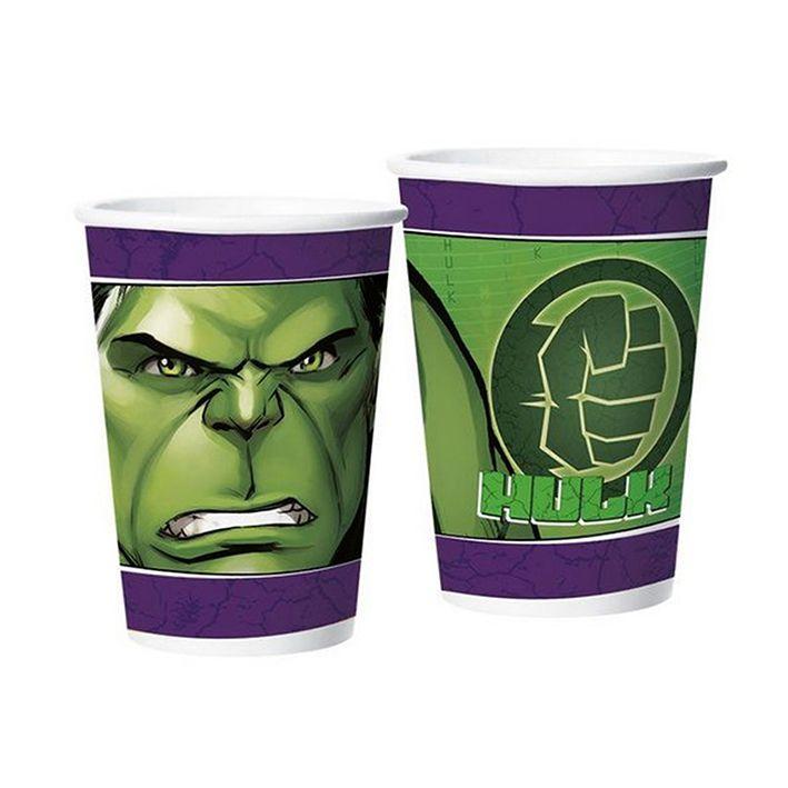 Copo de Papel Hulk 180ml C 08 unid Regina