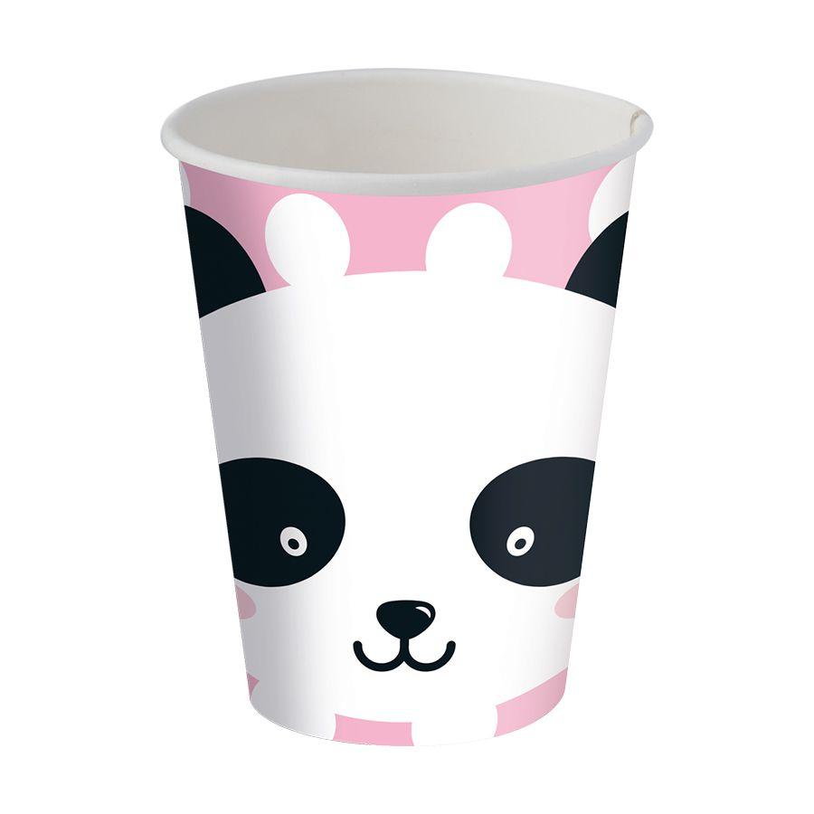 Copo de Papel Panda C 08 unid  Festcolor