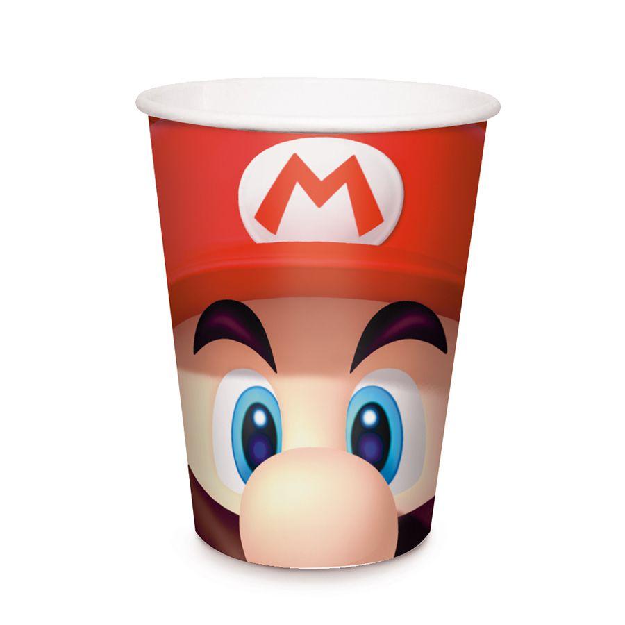 Copo de Papel  Super Mario C 08 unid  Cromus