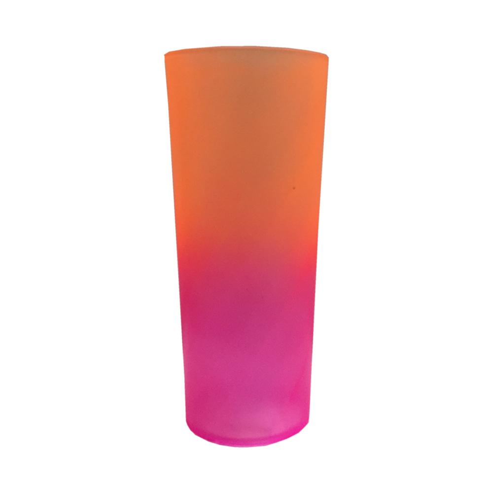 Copo Long Drink Bicolor 350ml Rosa/Laranja