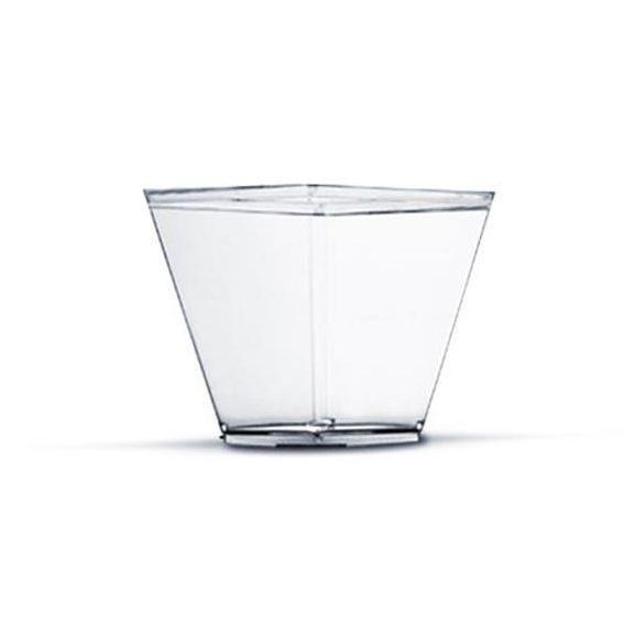Copo Quadrado Transparente 150 ml 10 unid Plastilânia