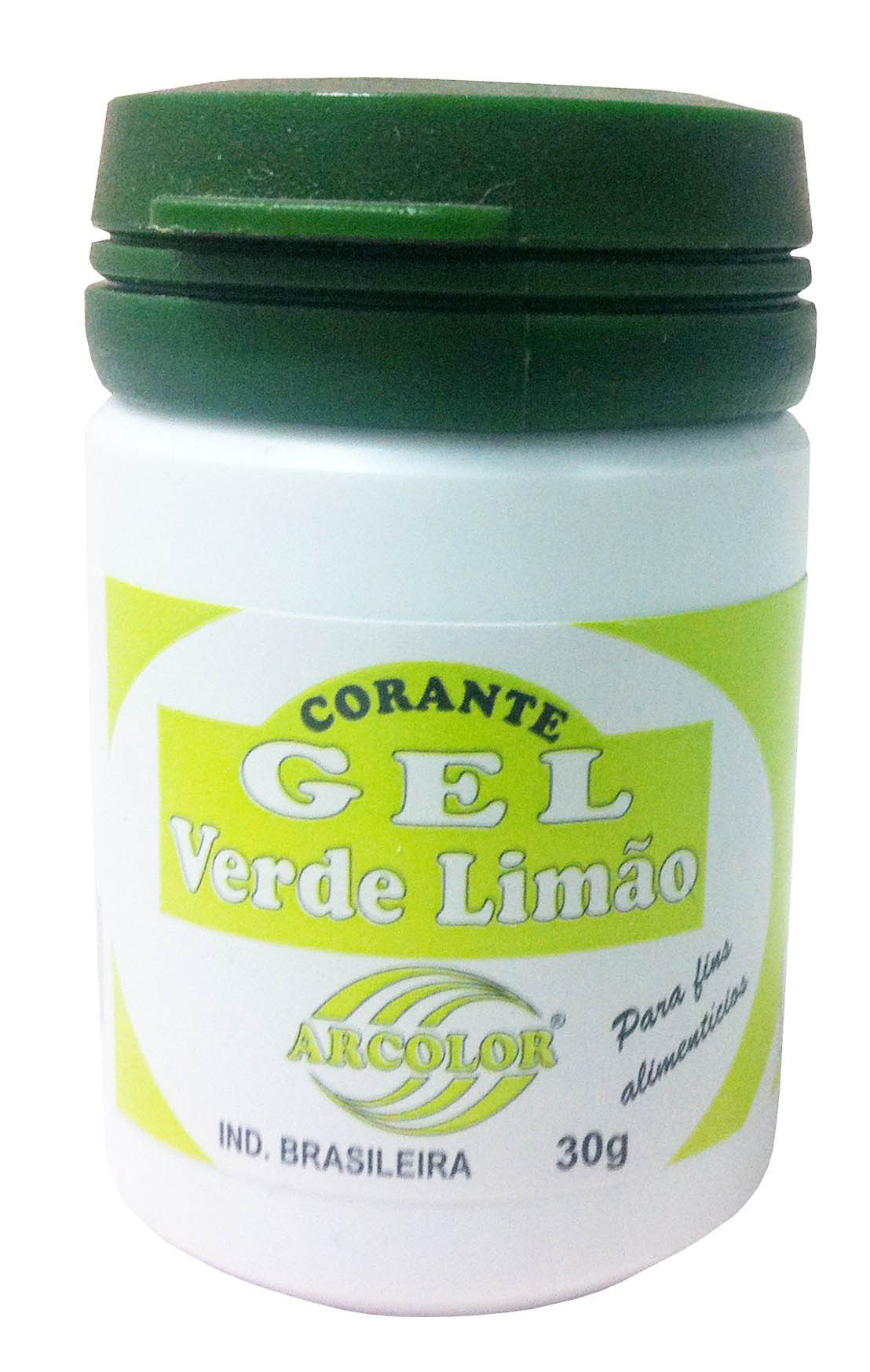 Corante Gel Verde Limão 30g Arcolor