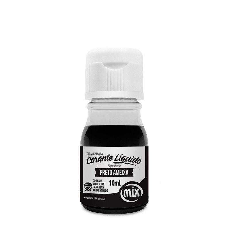 Corante Líquido Preto Ameixa 10 ml Mix