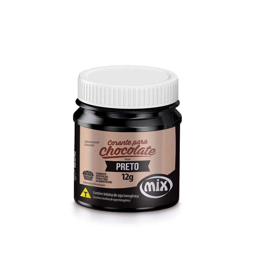 Corante para Chocolate Preto 12g Mix