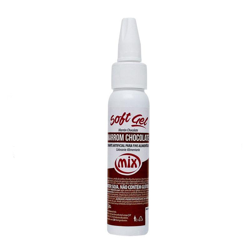 Corante Soft Gel Marrom Chocolate Mix 25g