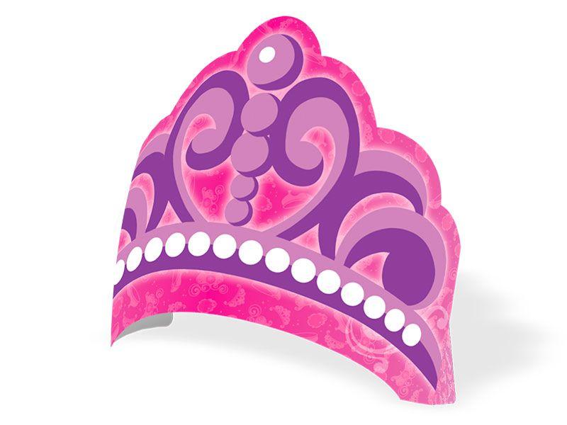 Coroa de Papel Princesinha Sofia C 08 unid Regina