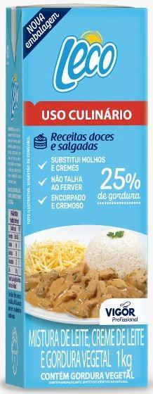 Creme Culinário Leco 25% 1kg Vigor