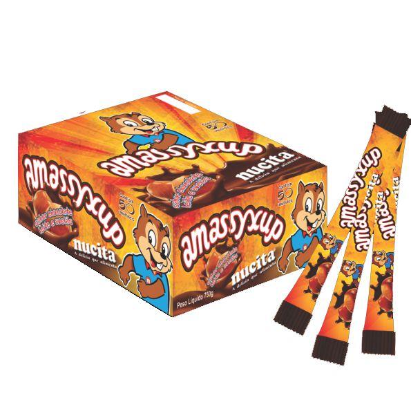 Creme Nucita Amassyxup Chocolate e Avelãs 50 unid