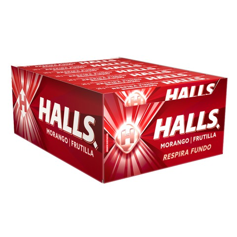 Drops Halls Morango C 21 unid