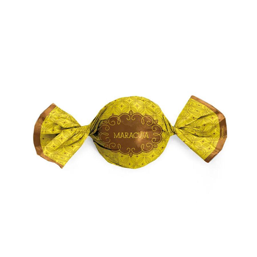 Embalagem Trufa Gostosura Maracujá 14,5x15,5 cm 100 unid. Cromus