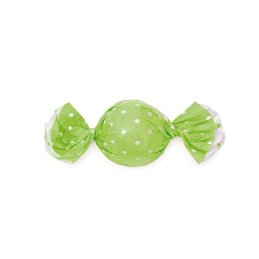 Embalagem Trufa Poá Verde Maçã 15x16 cm 100 unid. Cromus