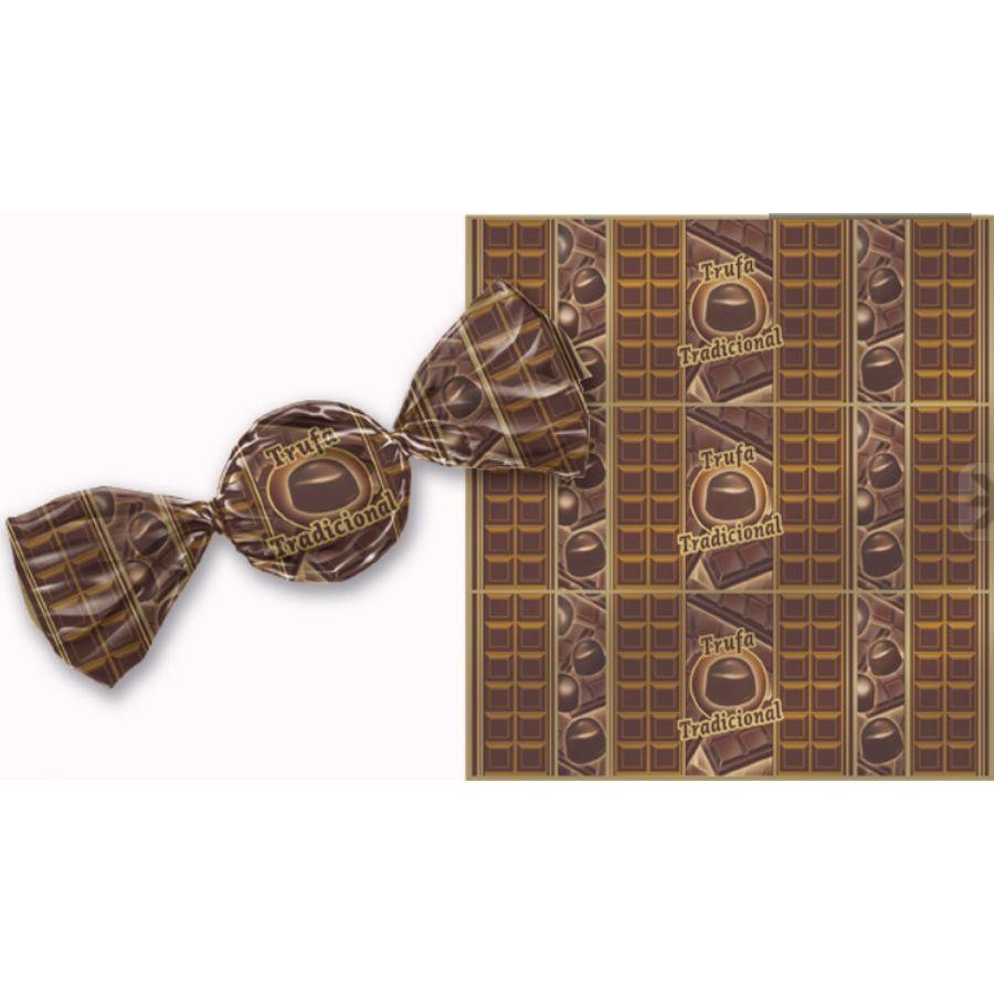 Embalagem Trufa Sabor Tradicional 15x16 cm c/100 unid. Embale