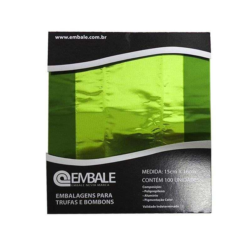 Embalagem Trufa Verde Claro 15x16 cm 100 unid. Embale