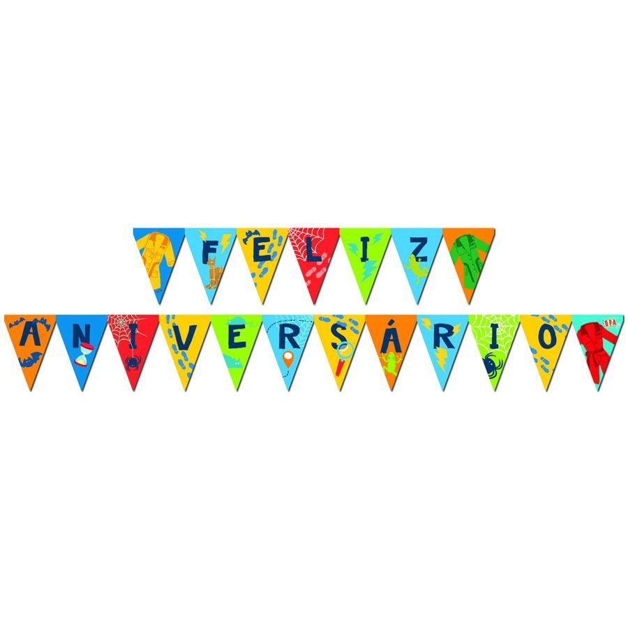 Faixa Feliz Aniversário D.P.A  C 01 unid Festcolor