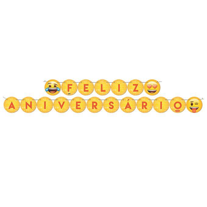 Faixa Feliz Aniversário Emoji