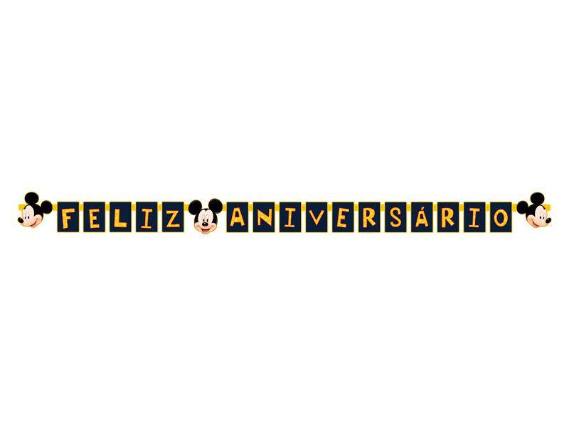 Faixa Feliz Aniversário Mickey C 01 unid Regina