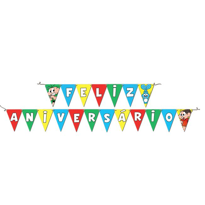 Faixa Feliz Aniversário  Turma da Mônica  Festcolor