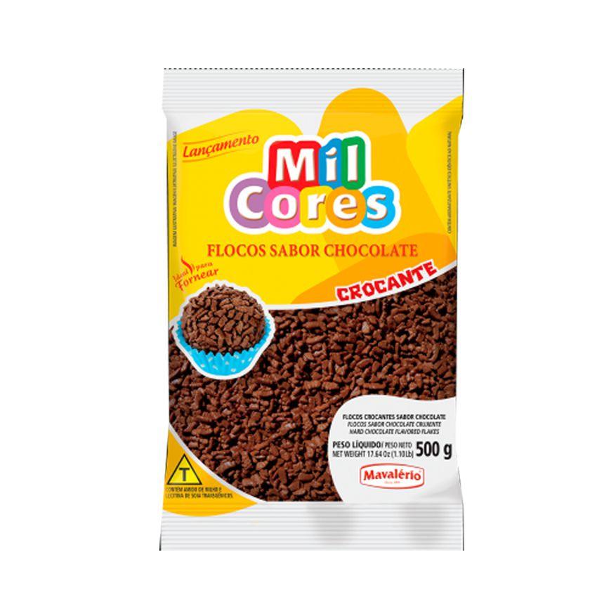 Flocos Crocante Sabor Chocolate 500g Mil Cores