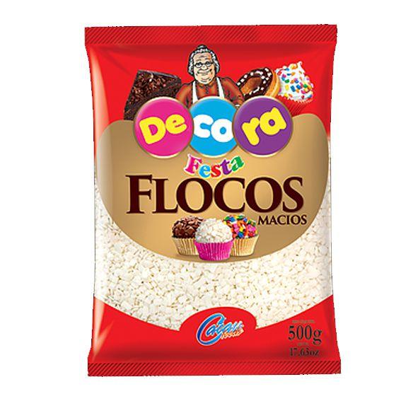 Flocos Macio Branco 500g Cacau foods Decora