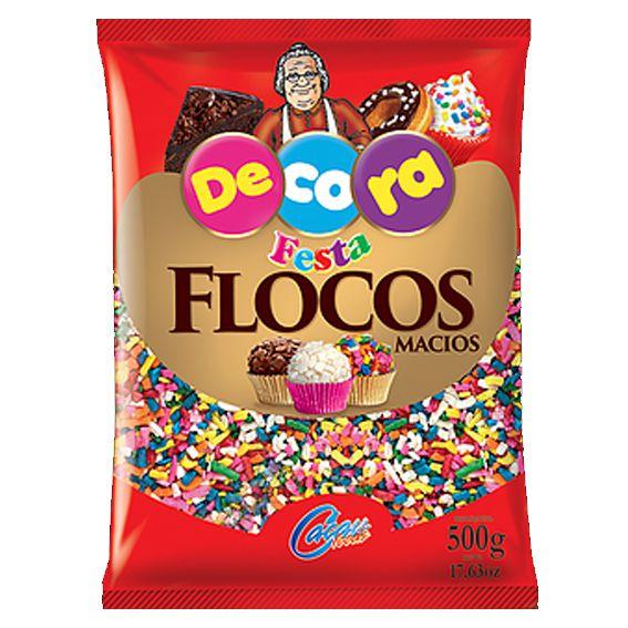 Flocos Macio Color 500g Cacau foods Decora