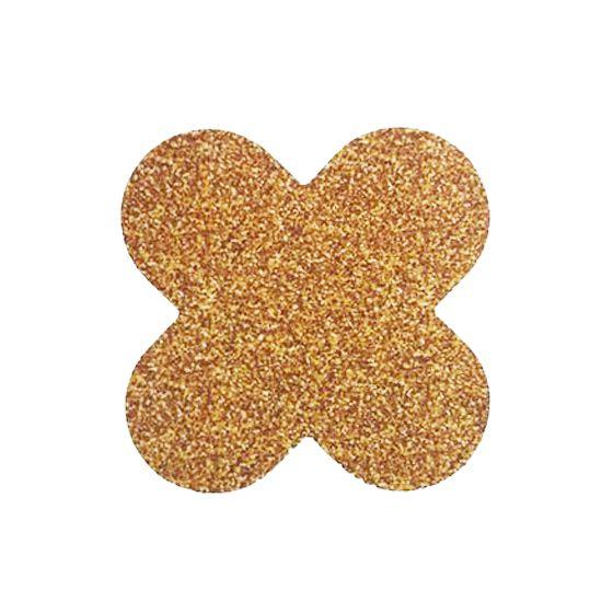 Forminha 4 Pétalas Glitter Dourado c/50 NC Toys