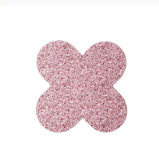 Forminha 4 Pétalas Glitter Rosa c/50 NC Toys
