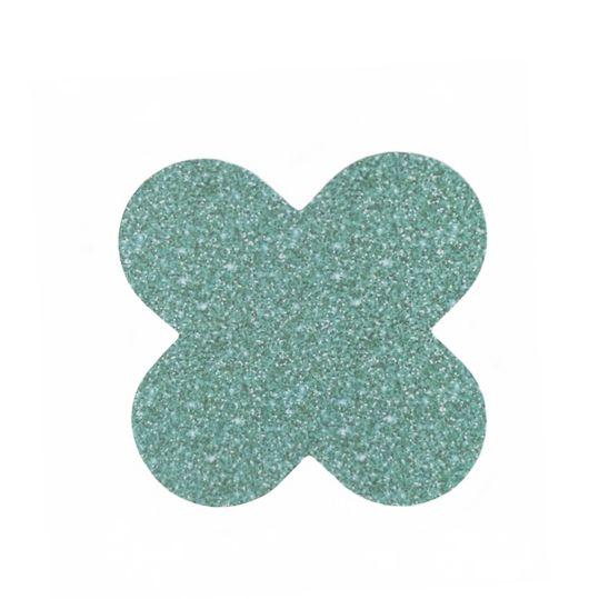 Forminha 4 Pétalas Glitter Verde c/50 NC Toys