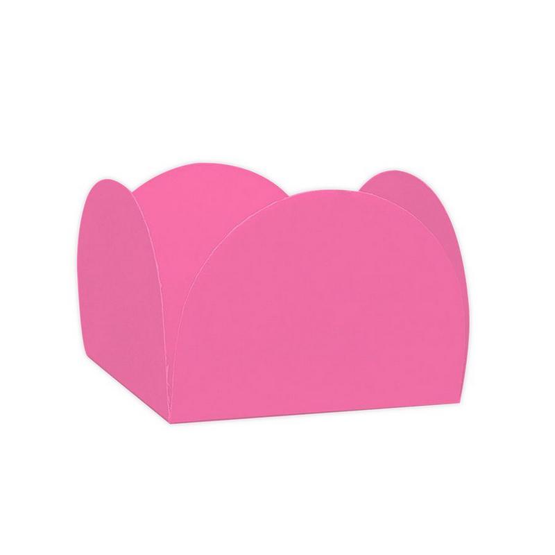 Forminha 4 Pétalas Rosa Escuro c/50 NC Toys