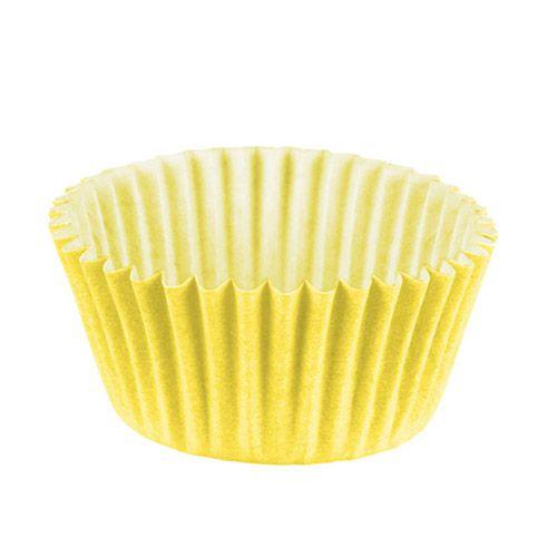 Forminha de Papel Amarelo Claro N.4 C/100 unidades