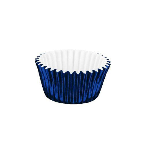 Forminha de Papel Laminado N.4 Azul Escuro C/50 unid. Vipel