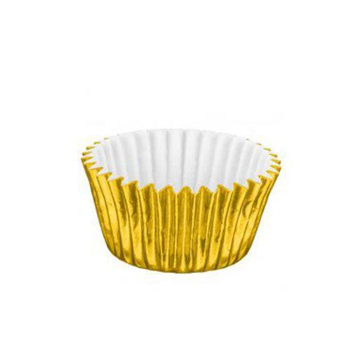 Forminha de Papel Laminado N.4 Ouro C/50 unid. Vipel