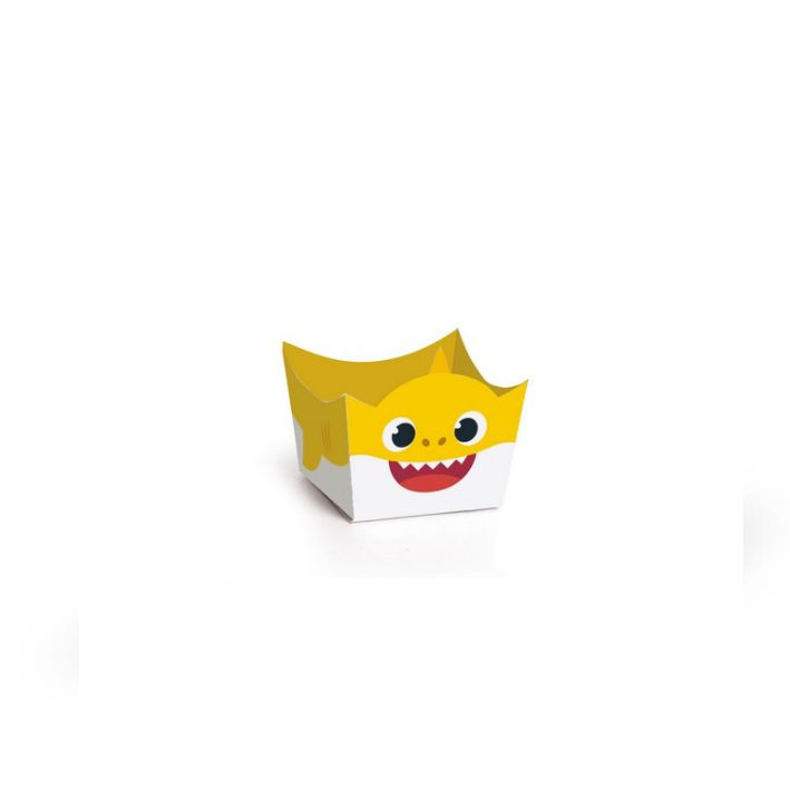 Forminha Doce Baby Shark  C 24 unid Cromus