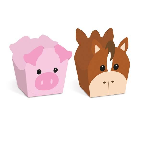 Forminha Doce Fazendinha Cavalo e Porco C 24 unid Cromus