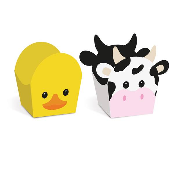 Forminha Doce Fazendinha Vaca e Pato C 24 unid Cromus