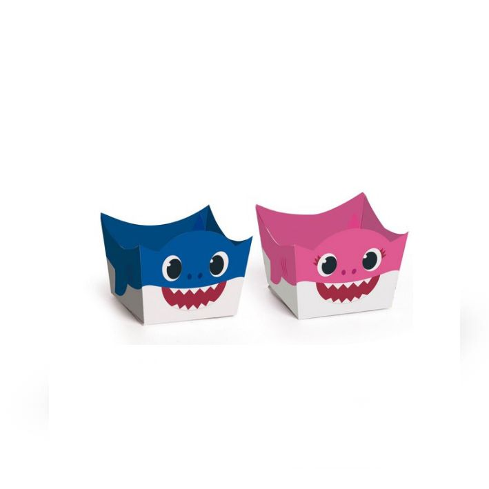 Forminha Doce Mommy e Daddy Shark C 24 unid Cromus