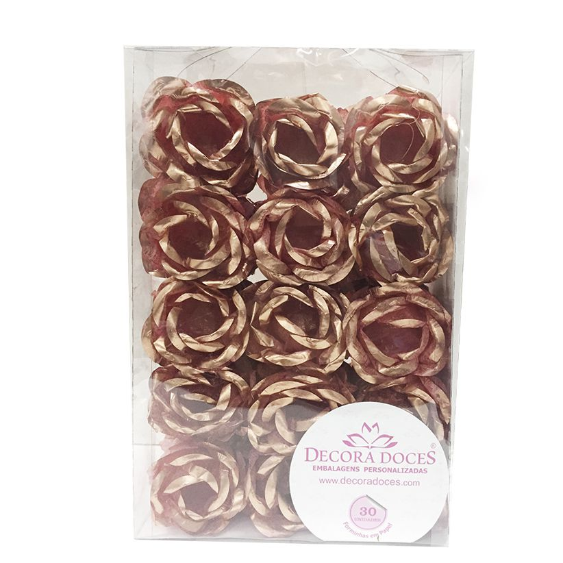 Forminha Magnólia Rose Gold c/30 Decora Doces