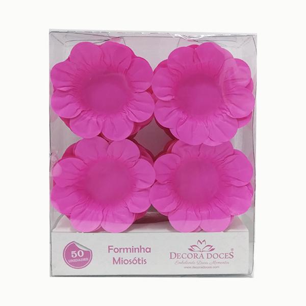 Forminha Miosótis c/50 Rosa Neon Decora Doces