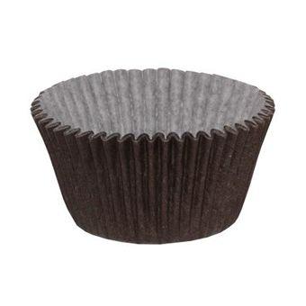 Forminha N02 Mini Cupcake 54 unid Marrom Ultrafest